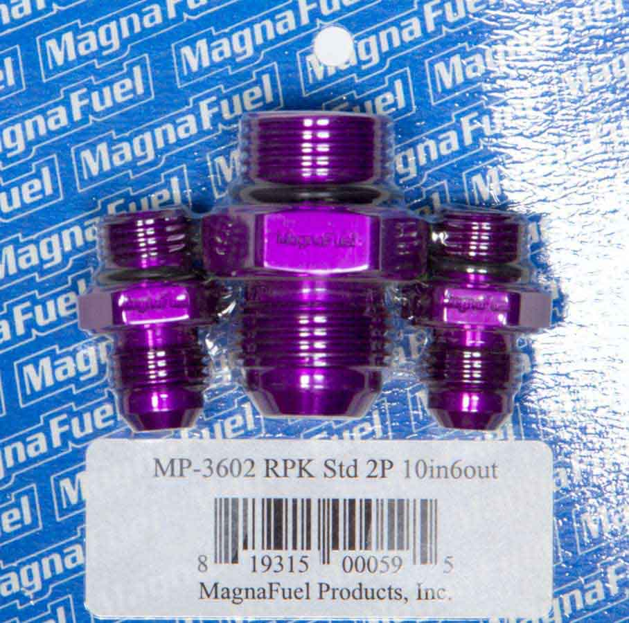Magnafuel MP-3029 Straight Adapter 10AN Male O-Ring To 3//8in NPT Male Purple