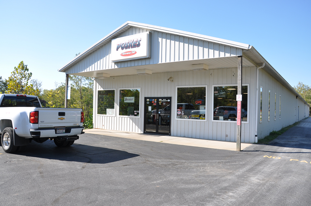 Front of Dave Poske's Performance Parts Store